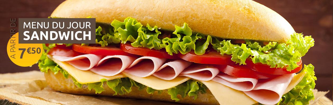Menu du jour sandwich