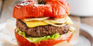 Tomate farci façon burger et riz Basmati diététique jeudi