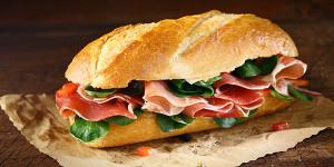 Menu sandwich lundi